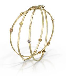 Diamond and 18k Gold Bangles