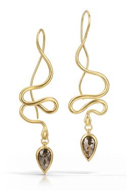Serpent 18k and Diamond Earrings