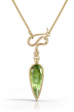 Green Tourmaline Serpent