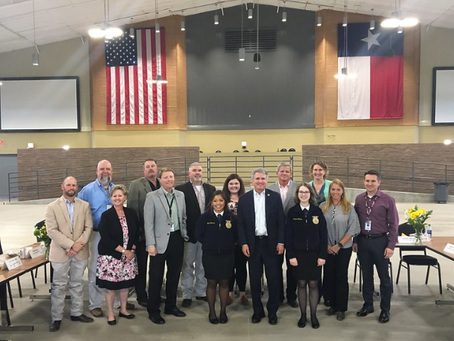 Congressman Hosts Roundtable at Katy ISD's New Agricultural Center