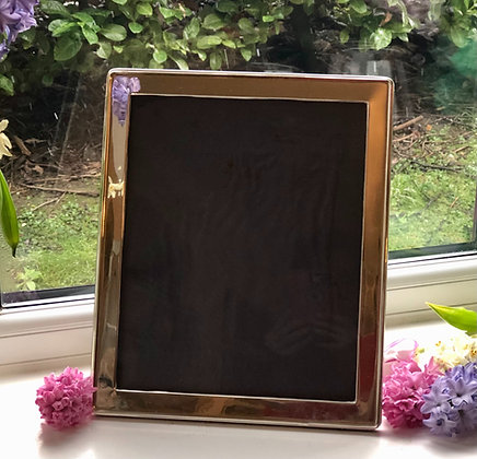A Antique Sterling Silver Plain Style Picture Frame 1932.