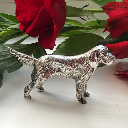 A Sterling Silver Model Of A Red Setter London 1973.