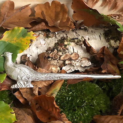 A Sterling Silver Pheasant Shaped Letter Opener London 1972.