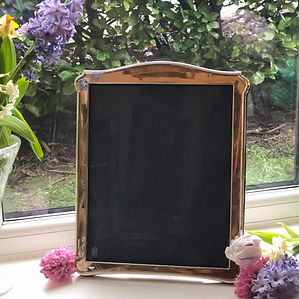 A Antique Plain Style Sterling Silver Picture Frame Birmingham 1918.