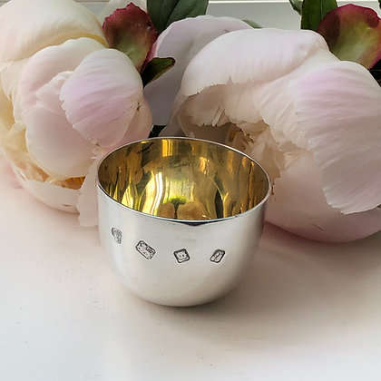 A Silver Cup With A Gilt Interior Made In London In 1971.