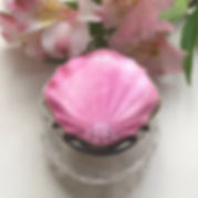 A Art Deco Silver And Pink Enamel Topped Dressing Table Jar Birmingham 1928.