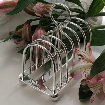 A Silver Toast Rack For Six Slices of Toast Birmingham 1922.