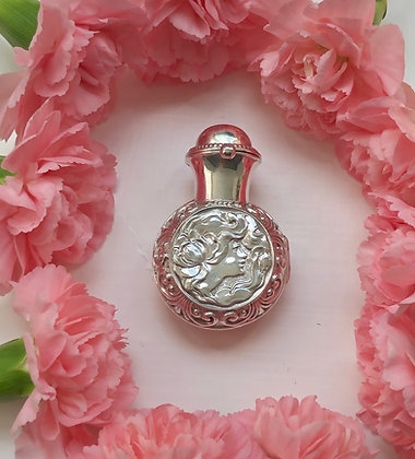 An Art Nouveau Style Silver Cased Glass Scent Bottle.