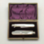 A Late Victorian Silver And Mother Of Pearl Travelling Knife And Fork