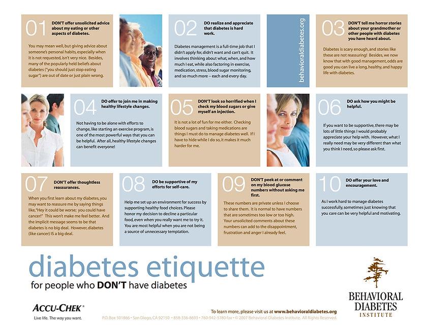 Diabetes Etiquette for People Who Don't