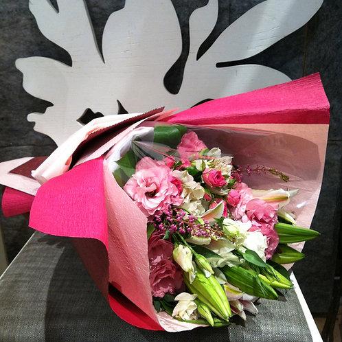 Elegant Pink Lilies