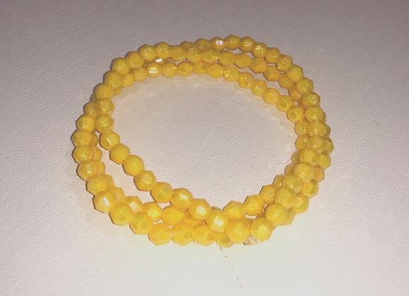 Stone waist beads (yellow)