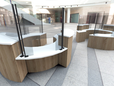 Reception Desk Screen