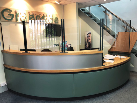Reception Desk Sceens