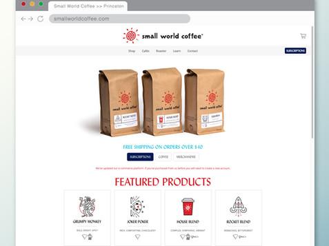 SMALL WORLD COFFEE WEBSITE