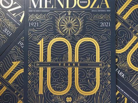 MENDOZA BUSINESS SCHOOL MAGAZINE COVER ART