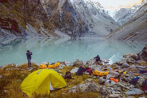 Ice Lake New Zealand Packraft Raft Camping Hiking Hike Kayaking Paddle White Water