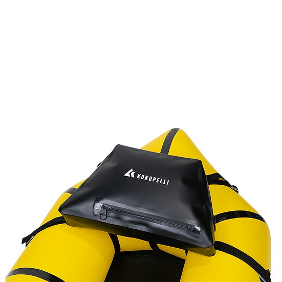 Pack Raft Delta Deck Bag Accessory Strapped On to Kokopelli New Zealand Inflatable Kayak