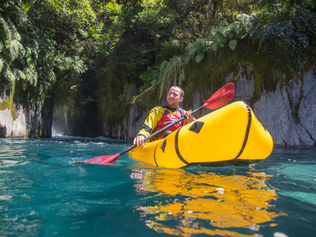 Packrafting in New Zealand with Barny Young