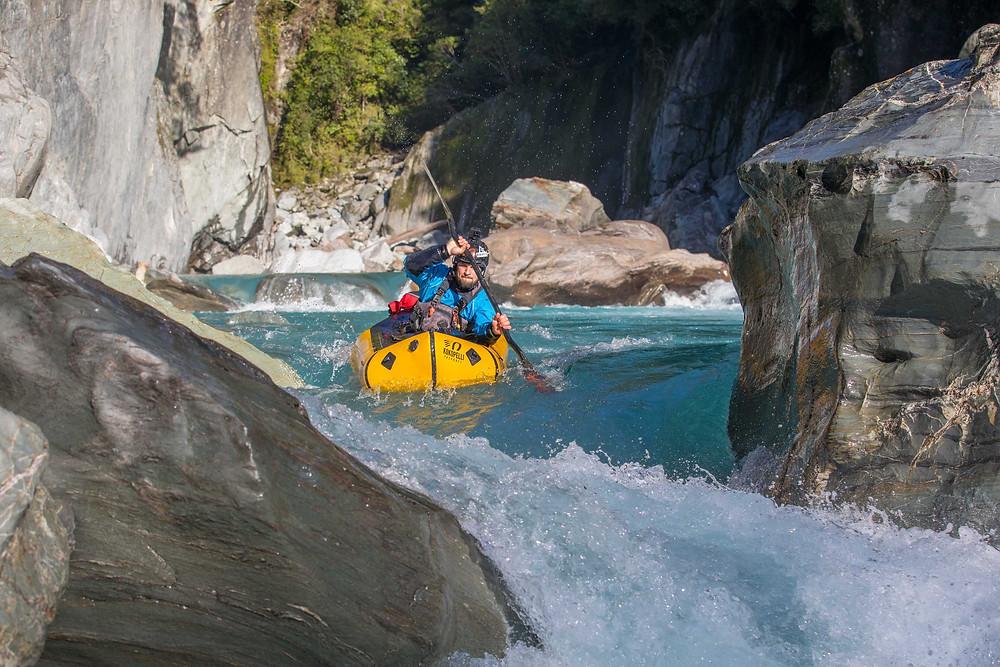 Packrafting New Zealand Packraft New Zealand NZ White Water Rapids Rafting Kayaking Paddling Blue Duck Packrafts Kokopelli Packraft Alpacka Raft Hiking NZ Hike Adventure  River