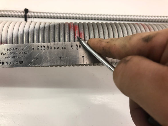 Measuring for replacement springs