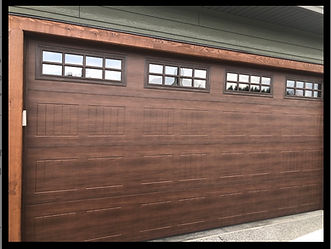 16x8 residential garage door install in Campbell River