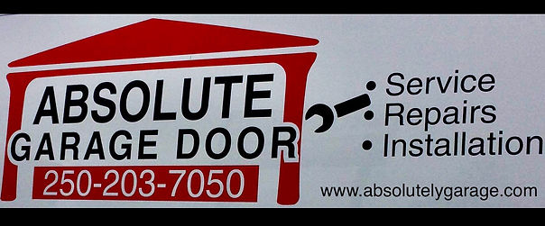 absolute garage door repair logo and contact for campbell river british columbia. Garage door repair service for the local area all brands all sizes