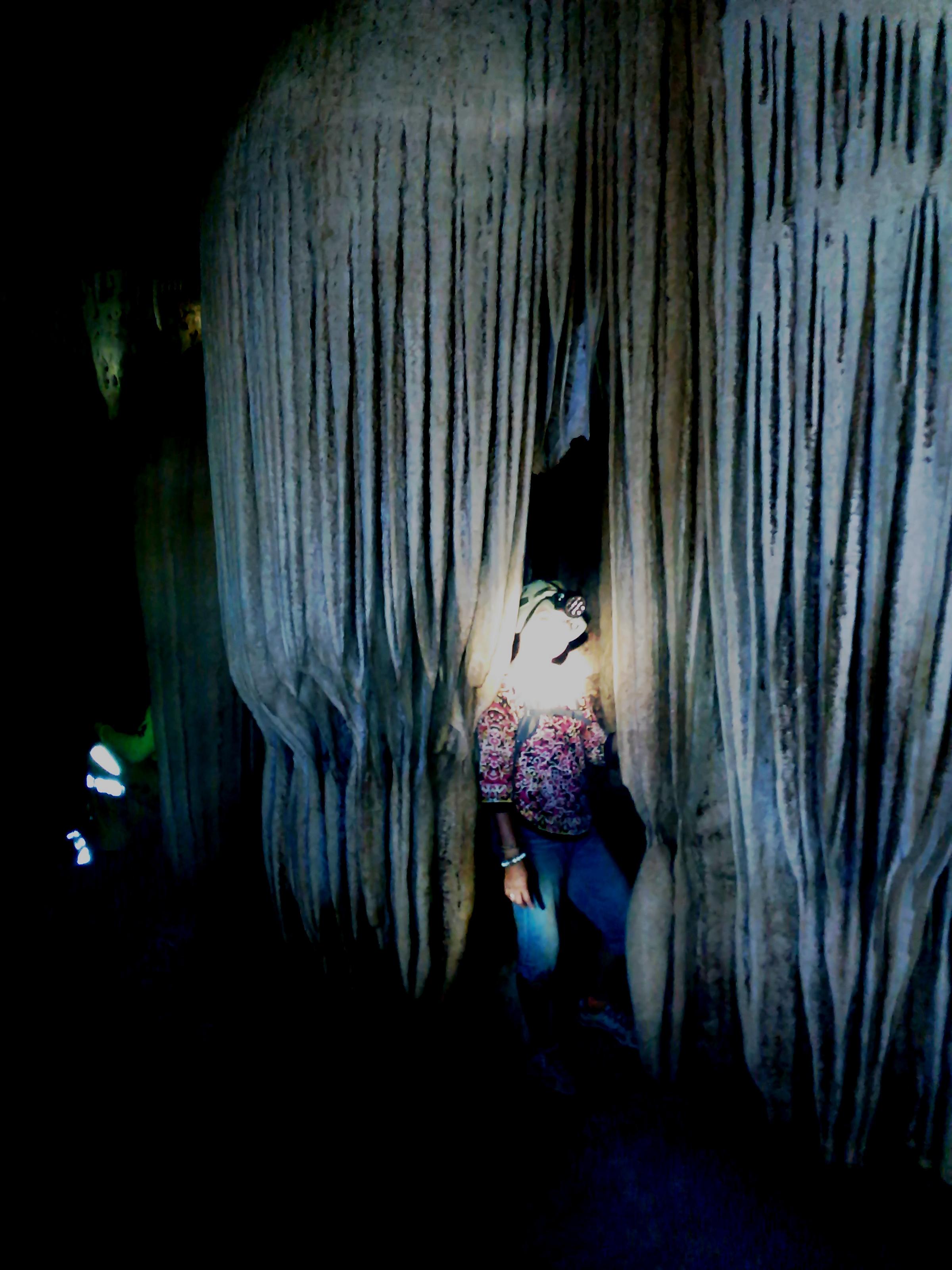 Inside the curtain