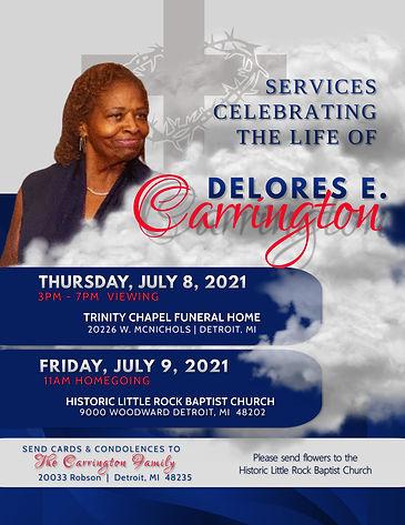 Delores Carrington Announcement