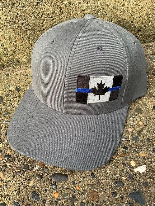 Snapback Closure - Dark Grey Thin Blue Line Hat