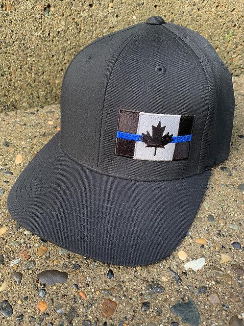 Velcro Closure - Black Thin Blue Line Hat