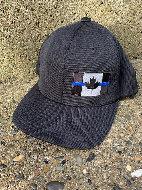 Pro-Fit - Cool and Dry Fabric - Black Thin Blue Line Hat