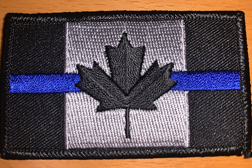 Embroidered Thin Blue Line Crest