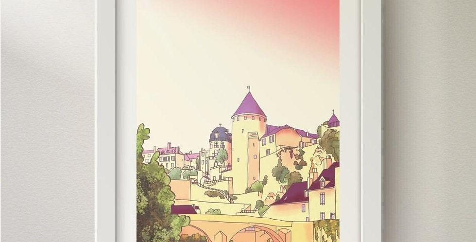 """Illustration """"Point sémur en Auxois"""""""