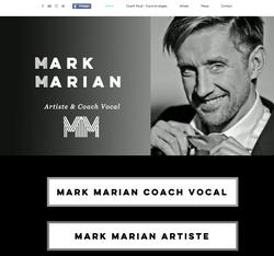 Site internet pour Mark Marian