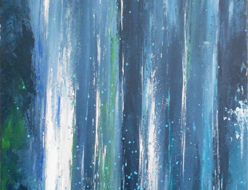 "Peinture ""Cascades"""