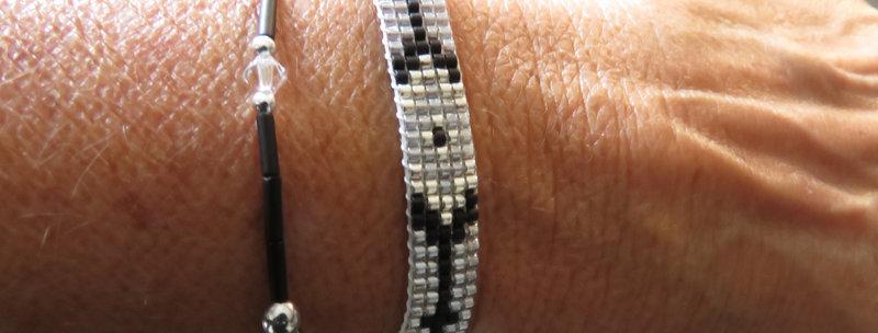 Bracelets duos perles miyuki et cristal swaroski