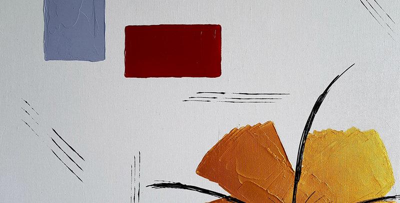 Hibiscus abstrait