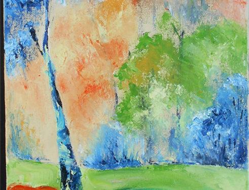 """Peinture """"Couleurs printanières"""""""