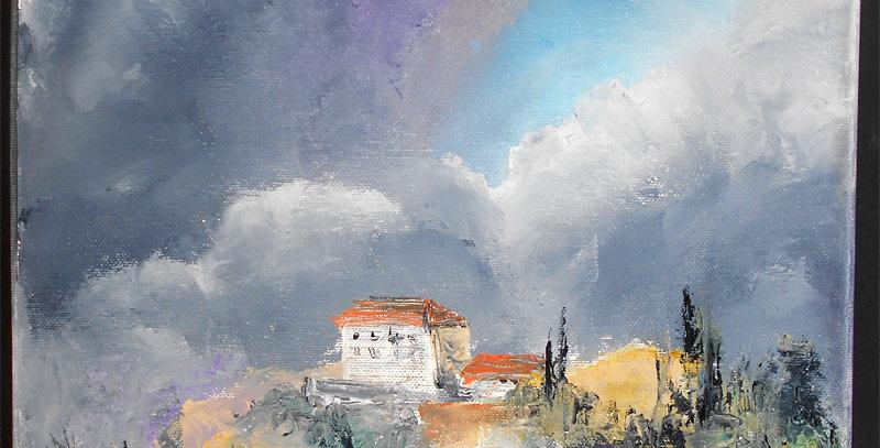 """Peinture """"Ambiance provençale"""""""