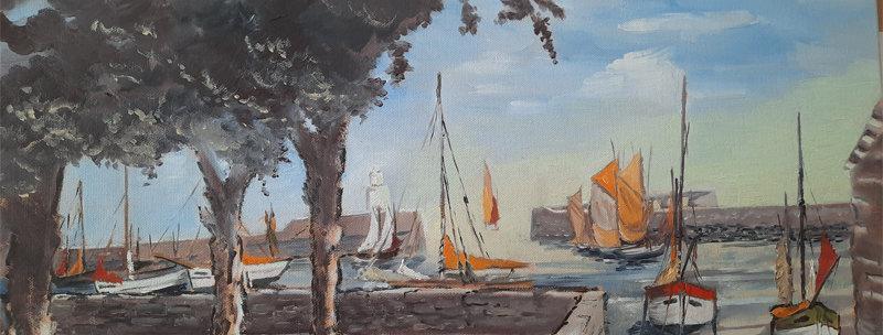 Peinture Place La Pylaie - Île d'Yeu