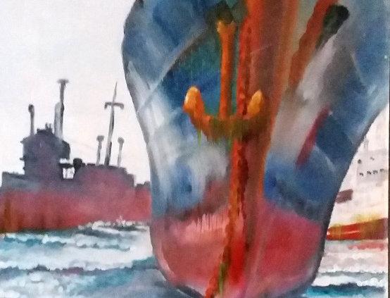 Peinture Cimetière naval
