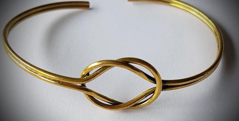 Bracelet noeud laiton