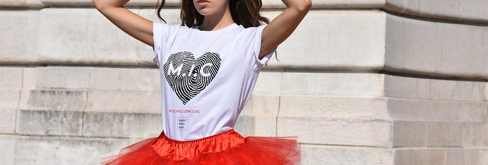 """Tee-shirt femme """"Heart digital"""""""