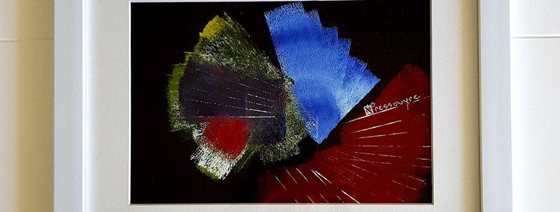 Abstrait (sous verre)
