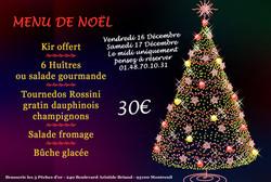 Affiche pour menu de Noël