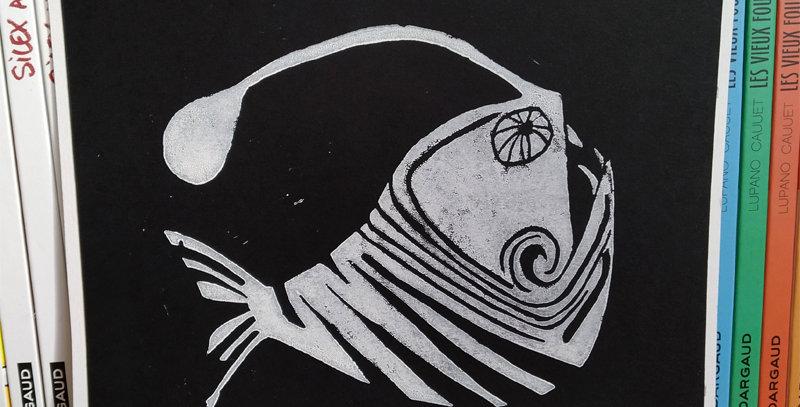 Linogravure poisson des abysses