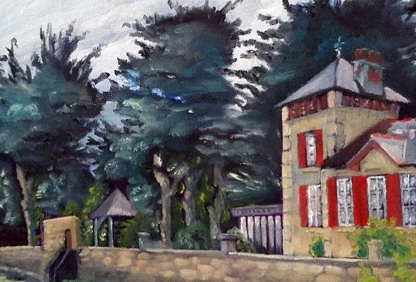 Peinture Villa rouge - Piriac