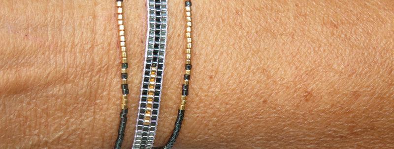 Bracelets trio+ perles miyuki