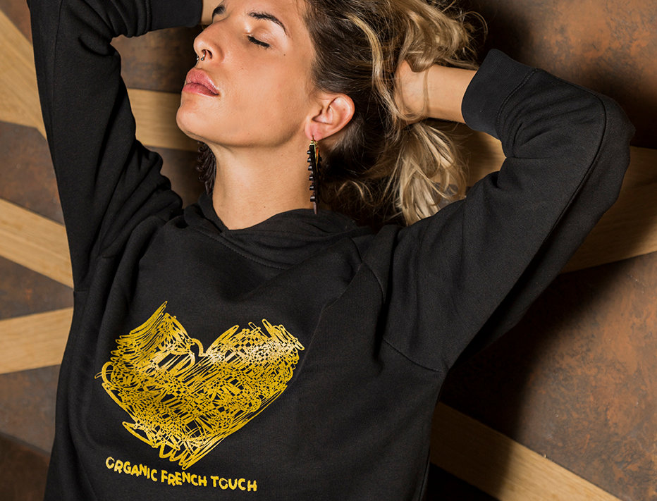 "Sweat-shirt femme ""Golden Heart"""